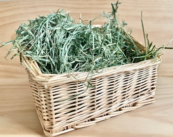 Willow Hay Rack & Basket for Chewing, Storing Hay, Food, Toys | Bunny Rabbit, Guinea Pigs, Chinchilla Chew Toy | Handmade | Nontoxic