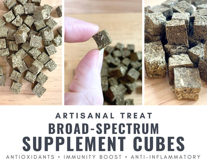 Featured listing image: Broad-Spectrum Herbal Supplement Cubes | OAT-FREE | Organic | Bunny Rabbit, Guinea Pig, Chinchilla, Gerbil, Hamster, Rat, Mouse,Chicken