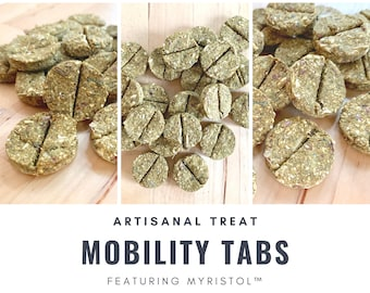Mobility Tabs featuring Myristol™ | Holistic Supplemental Aid for Healthy Joints, Hips, Bones | Bunny Rabbits, Guinea Pigs, Small Pets