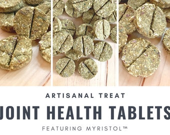 Joint Health Tablets featuring Myristol™ | Holistic Supplemental Aid for Healthy Joints | Bunny Rabbits, Guinea Pigs, Chinchillas,Small Pets