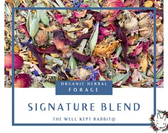 TWKR Signature Blend | Herbal Forage | natural source of vitamins, minerals, micronutrients | Organic Hay Topper for Rabbits & Guinea Pigs