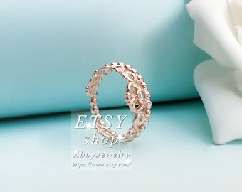 31fe5d36c Abby Jewelry Rose Gold Plated My Princess & Clear Cz Love Rings For Women  Men Ring