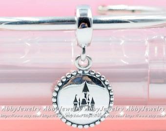 Argent Sterling 925 méchante reine Blanche Neige miroir magique charme Fit Europ Bracelet