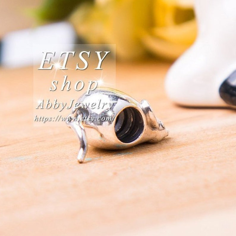 Abby Jewelry 925 Sterling Silver Cute Mouse With Pink Enamel Charm Bead Fit European Dora DIY Bracelets Necklaces