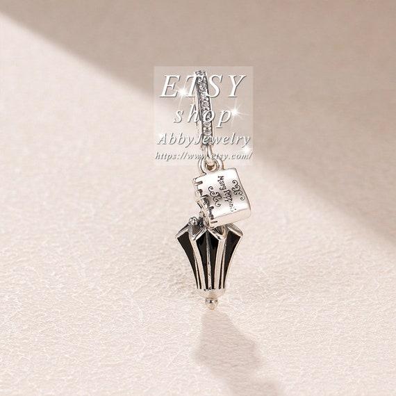 DIY 925 Silver Crystal Umbrella Charm European Beads Fit Necklace Bracelet  !!