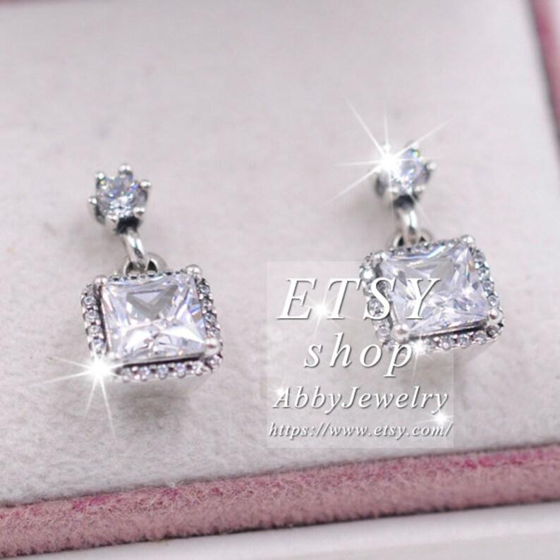 Abby Jewelry Stud Earrings Sterling Silver Timeless Elegance With Clear CZ Drop Earrings For Women Men