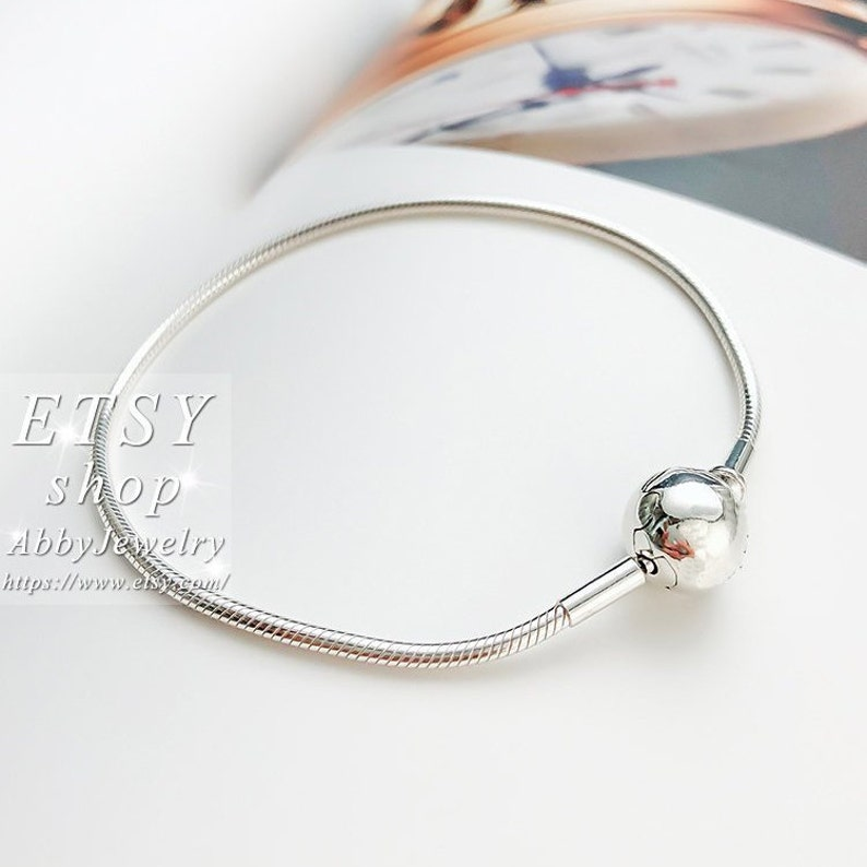 Abby Jewelry S925 Sterling Silver Essence Series Small Charm Bracelet For Essence DIY Charm Bead Small Hole Bead