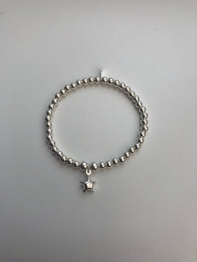 Children's Sterling Silver Bracelet with Star Charm image 0