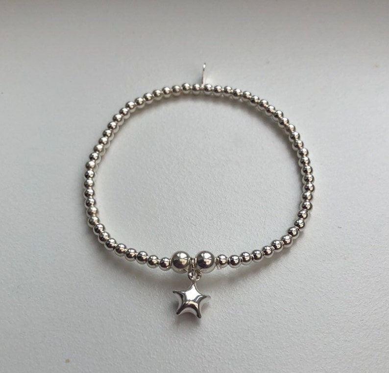 Sterling Silver Bracelet with Star Charm Mini Star