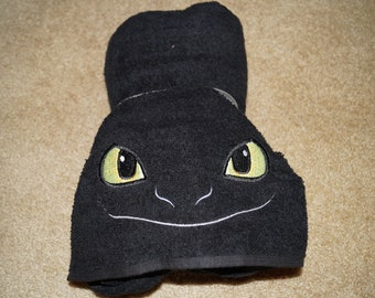 Toothless Dragon How to Train Your Dragon Inspired Hooded Towel on High Quality Macy/'s Belk Department Store Towels