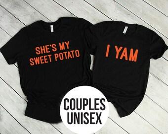 8320760d62b8 She's My Sweet Potato Shirt | I Yam Shirt | Couple's Shirt | Thanksgiving  Shirts | Matching Couple's Shirt | Unisex Shirts
