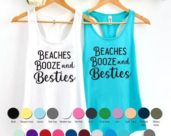 e80eb08b2c Beaches Booze and Besties Tank Top, Bachelorette Party Tank Tops, Girls  Weekend, Girls Trip, Bachelorette Trip, Mexico trip, Fiesta Tanks