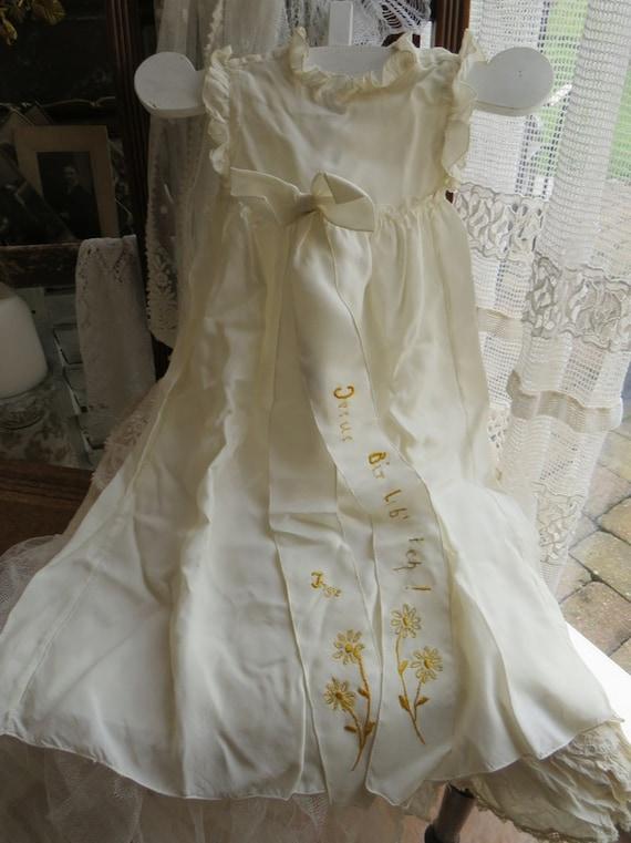 Antique Christening Robe in original carton