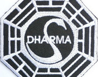 PATCH LOST DHARMA LIGHT HOUSE   IRON ON