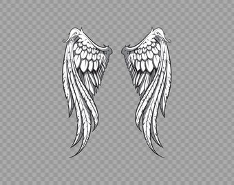 Decal Sticker Pair Of Wings Angels Air Force Fly Freedom Icarus Detailed XR7ZZ