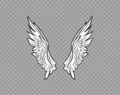Decal Sticker Pair Of Wings angels Air-force fly freedom Icarus Pilot racing speed XR633