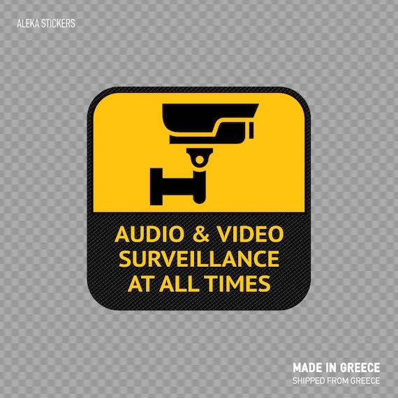Aufkleber Aufkleber Audio Und Video überwachung überhaupt Mal Zeichen Security Kamera Internen Externen Verwenden Wasserdichten Wetterfesten Vollen