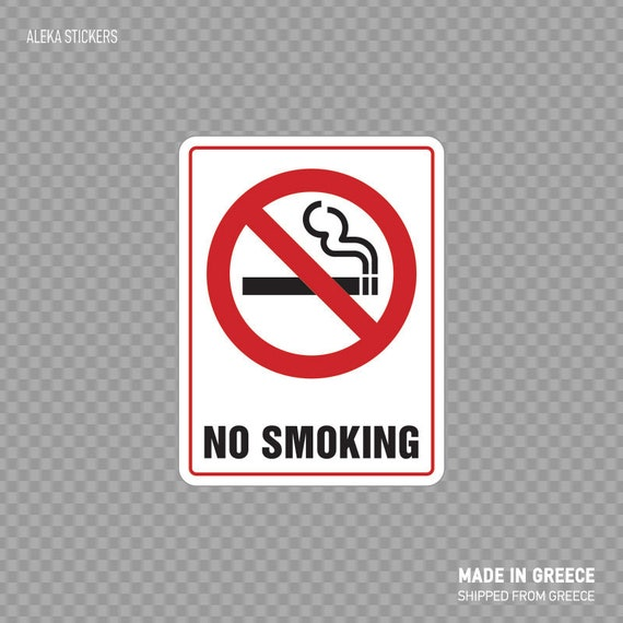 Designated Smoking Area W Left Arrow Vinyl Sticker Decal 8