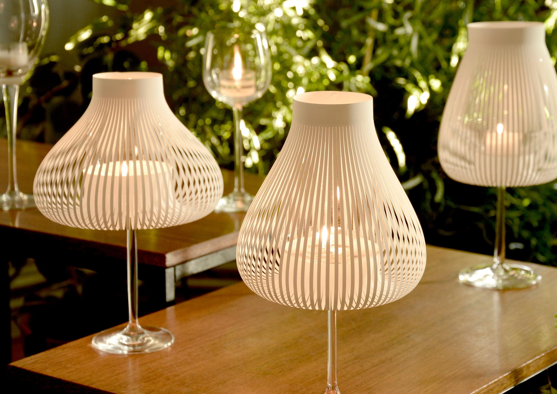 Lampenschirme für Weingläser MISS MOLLY 20/20er/20er Set weiß, Hochzeit  Tischdeko, originelles Mitbringsel für Weintrinker, Weinglasdeko