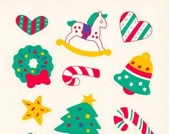 Large Single Sticker Sheet by Current, Christmas and Holiday, Colors of Christmas 13794-3, Rocking Horse