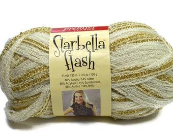 Metallic yarn scarf | Etsy