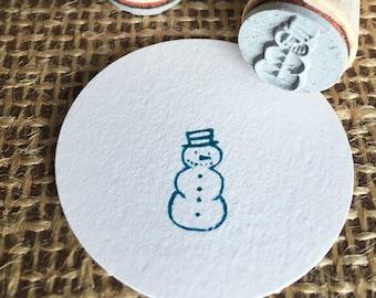Mini-Stamp Snowman