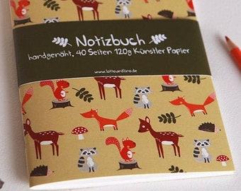 A5 Notebook Forest Animals