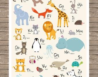 Animal Alphabet - ABC Poster