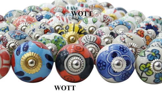 Dresser Knobs and Pulls Free Coaster 20 Ceramic Knobs with Set of 6 Coaster Combo Offer Door Knobs Cabinet Knobs Knobs for Furniture