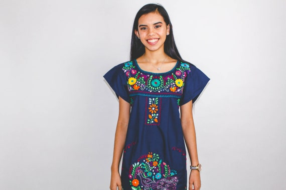 Vestidos Mexicanos Mexican Dress Embroidered Dress Ropa Mexicana Mexican Clothes Mexican Heritage Clothes Mexican Dresses