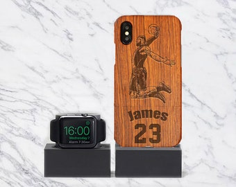 cb965e7ad186a2 LeBron James Phone Case Real Solid Black wood Personalization for iPhone  6S