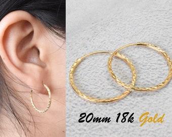 173806a0e494b 18k gold hoop earrings | Etsy