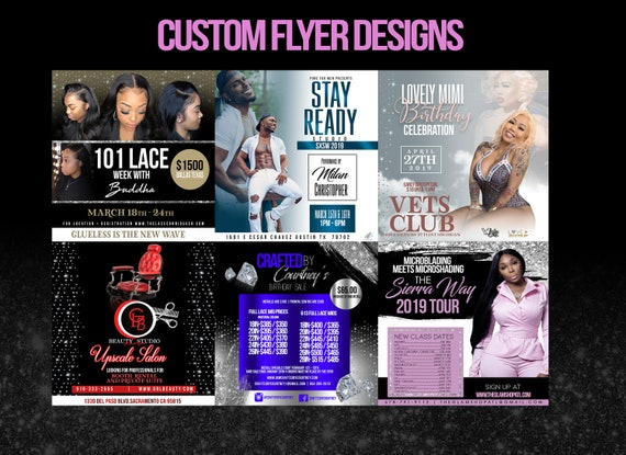 Custom Social Media Flyer Design Etsy