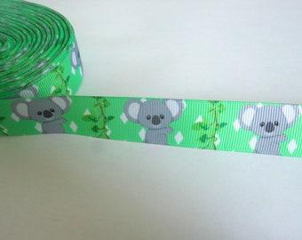 1,90 Euro/Meter Koala, Koala Bear, 22 mm Borte Ripsband, kawaii,