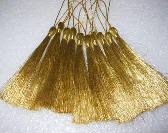 10 x Metallic gold or silver tassels troddel / tassels , jewelry decorate, craft 8 cm