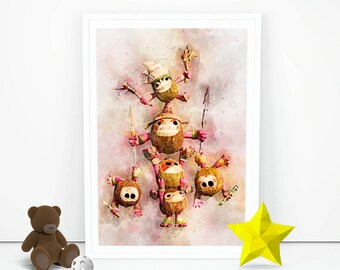 Moana Kakamora Printable Villains Wall Hangings Instant Download Poster Nursery HD Birthday Prints Girls Boys Room Art