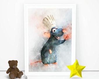 Ratatouille rat Remy vinyl wall decal sticker art La Ratatouille hanging sign