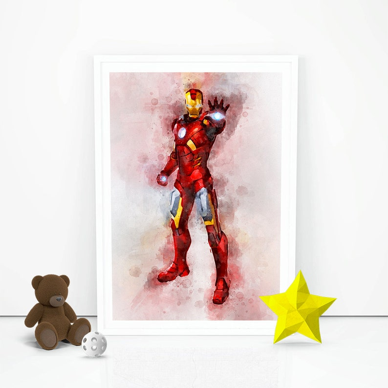 photograph about Iron Man Printable identify Iron Guy Print Iron Male Poster Iron Gentleman Printable Superhero Birthday reward concept Decorations Fast Down load Nursery wall artwork little ones house Decor