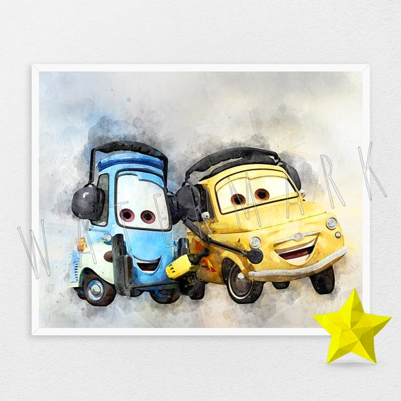 Disney Cars Guido Disney Pixar Cars Guido Poster Disney Wall Art Nursery Art