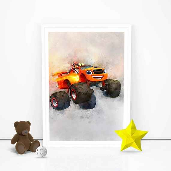 Blaze and The Monster Machines Print The Monster Machines Instant Download  Nursery HD Wall Decor Birthday Decor Girls Boys Room Wall Art