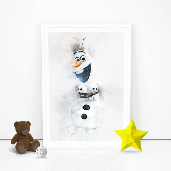 DISNEY FROZEN MOVIE OLAF WALL ART ONE PIECE POSTER A1 - A5 SIZES