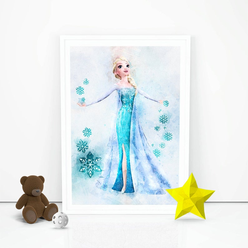 graphic regarding Elsa Printable named Frozen print Elsa poster Disney Princess Elsa Printable Birthday present Principle Fast Obtain Nursery High definition Wall artwork Young children house Decor Wall Putting