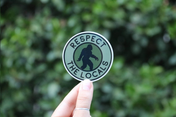 Respect The Locals Vintage Distressed Bear Sticker Vinyl Decal Wall Laptop Window Car Bumper Sticker 5