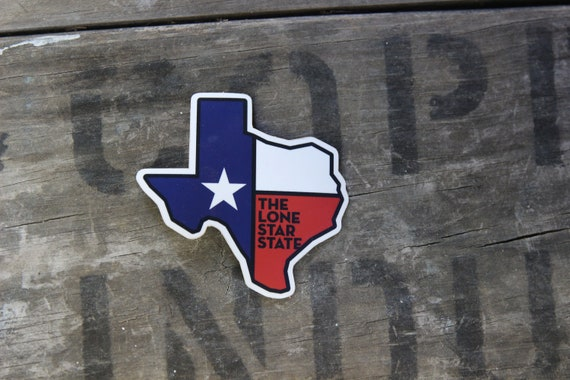 Texas The Lone Star State Vinyl Sticker for Laptops Water Bottles and Windows