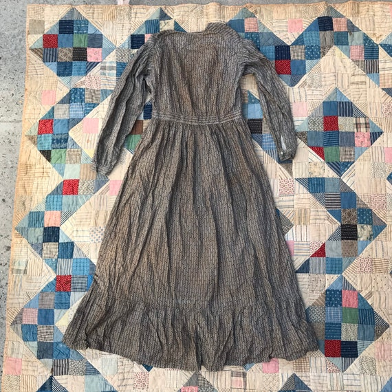 Antique Grey Calico Dress - image 5
