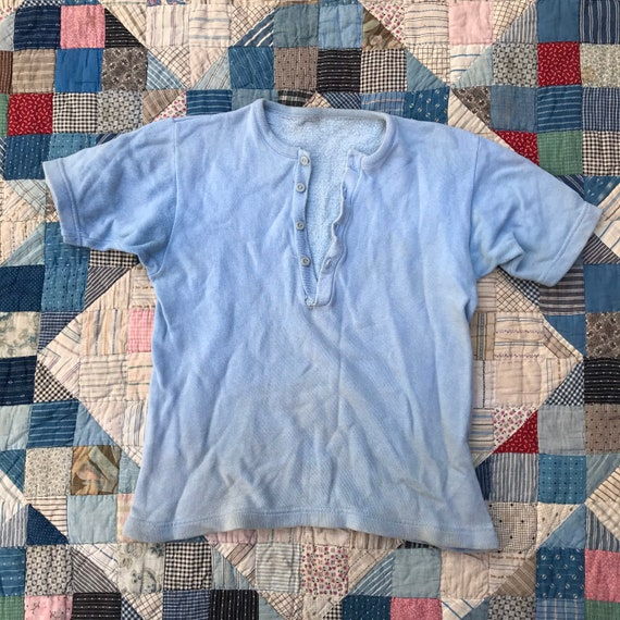 50s 60s Short Sleeved Sweatshirt - image 1