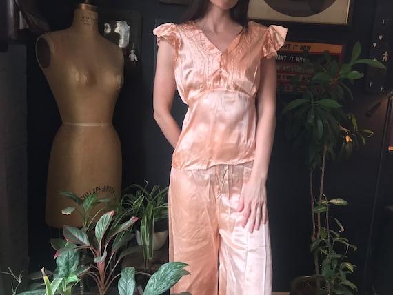 Pink 1940s Rayon Pajamas