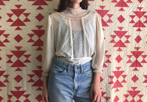 Victorian Style 70s Blouse
