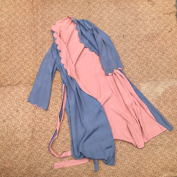 Pink and Blue Dressing Gown