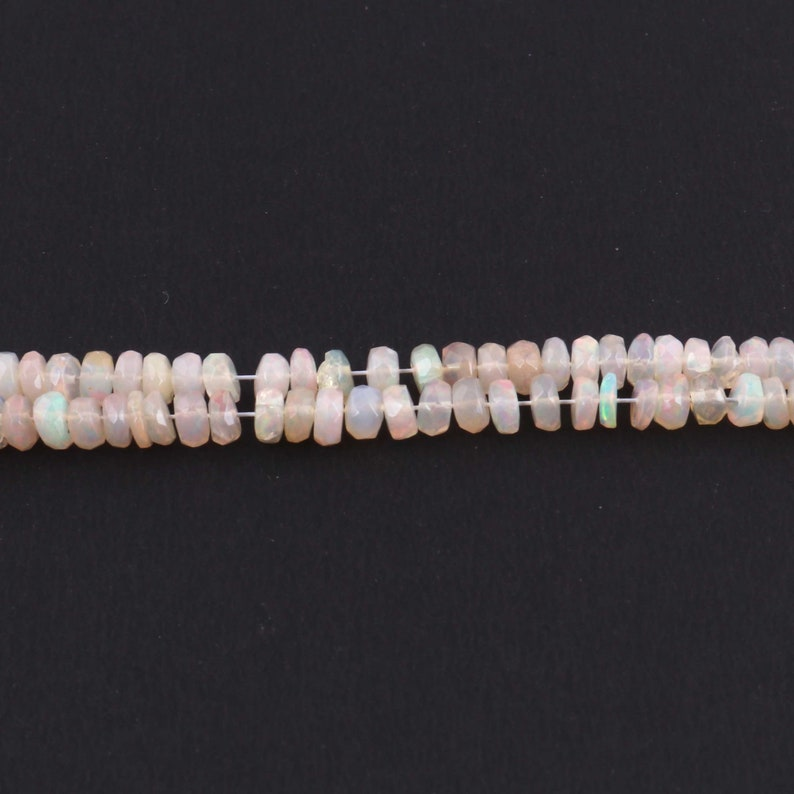 SP1518 1 Strand 100/% Natural And Genuine Welo Opal Rondelles Multi Fire Ethiopian Faceted Rondelles Beads,2mm-5mm,18 Inches